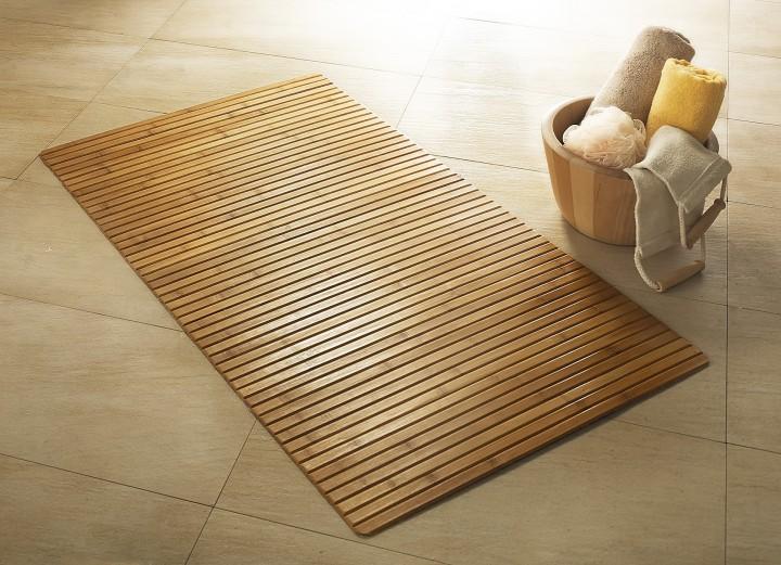 Bambusteppich für Bad