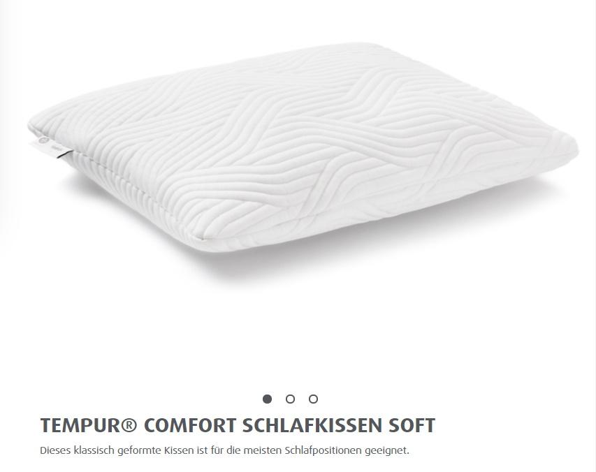 TEMPUR® COMFORT SCHLAFKISSEN SOFT mit Cool Touch