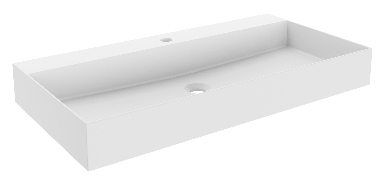 Badmöbel Set LZ150 in Weiss mit LED-Spiegelelement