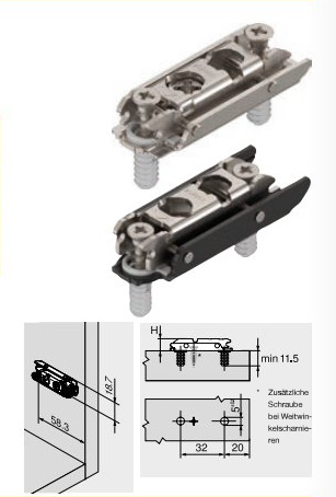 Ersatzteil Montageplatte 177H3100E