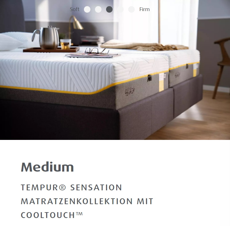 TEMPUR® SENSATION MATRATZENKOLLEKTION MIT COOLTOUCH™
