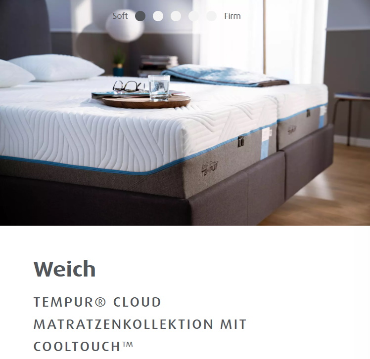 TEMPUR® CLOUD MATRATZENKOLLEKTION MIT COOLTOUCH™