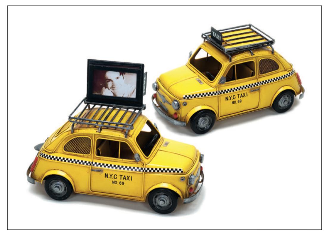 Auto Deko mit Bilderhalter